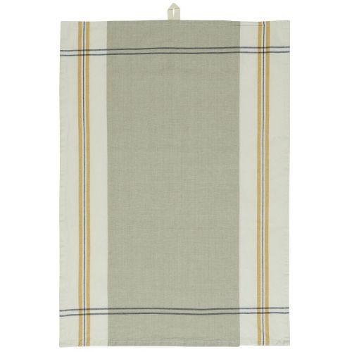 IB LAURSEN / Bavlnená utierka Grey/Yellow Stripes