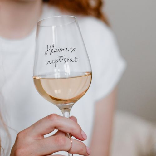 Bella Rose / Pohár na víno Hlavne sa nep♥srať SK