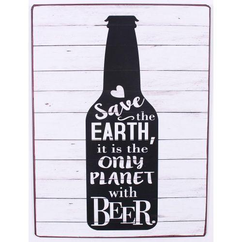 La finesse / Plechová ceduľa Save the earth