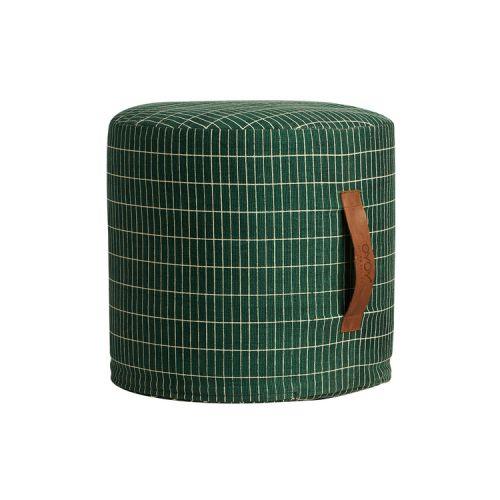 OYOY / Taburet s koženou rukoväťou Cylinder