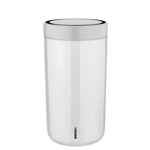 Stelton / Cestovný hrnček To Go Click Steel Chalk 200 ml