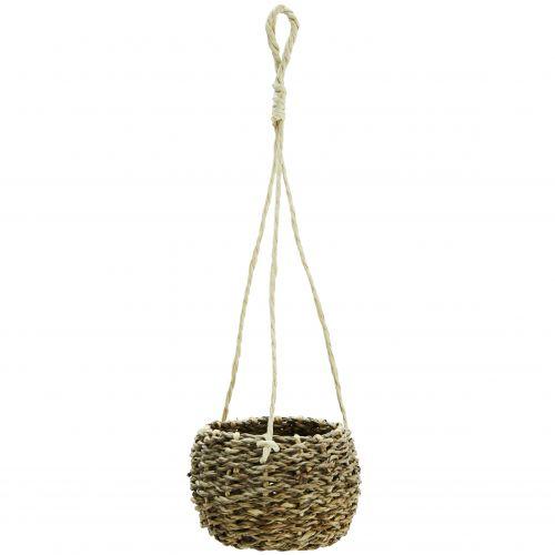 MADAM STOLTZ / Závesný obal na kvetináč Hanging Basket Seagrass