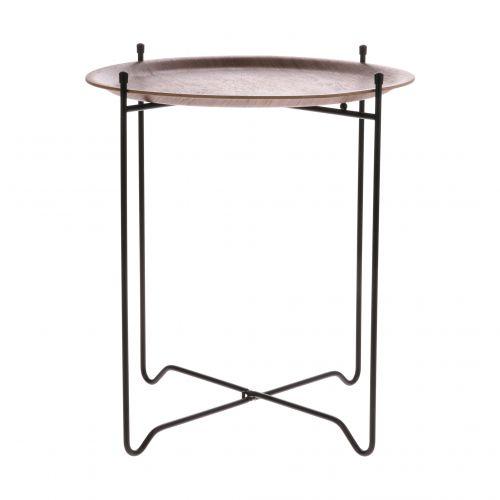 HK living / Odkladací stolček Willow Wood ⌀ 43,5 cm