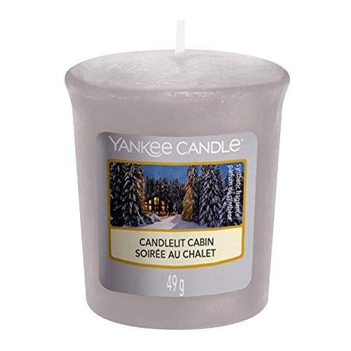Yankee Candle / Votívna sviečka Yankee Candle - Candlelit Cabin