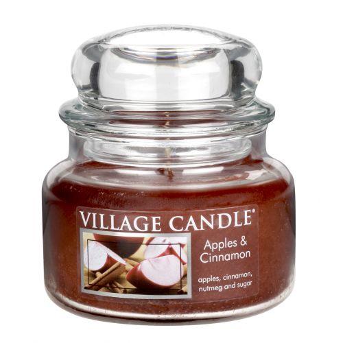 VILLAGE CANDLE / Svíčka ve skle Apple Cinnamon - malá