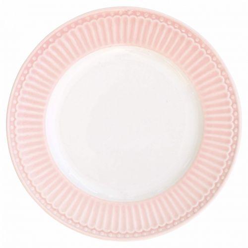 GREEN GATE / Dezertný tanierik Alice Pale Pink 17 cm