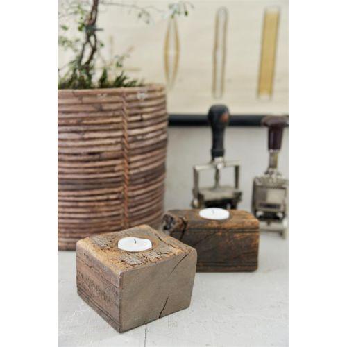 Jeanne d'Arc Living / Svietnik z recyklovaného dreva Recycled