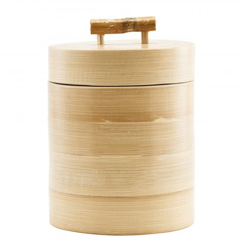 House Doctor / Bambusová dóza s vekom 12x15 cm
