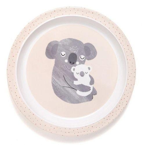 PETIT MONKEY / Detský melamínový tanier s okraji Koala