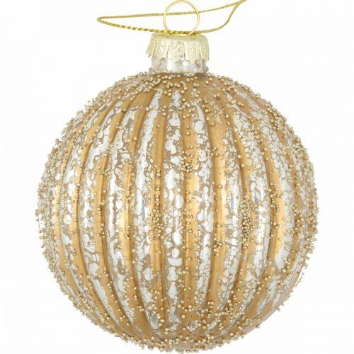 GREEN GATE / Sklenená vianočná ozdoba Christmas Gold 8 cm