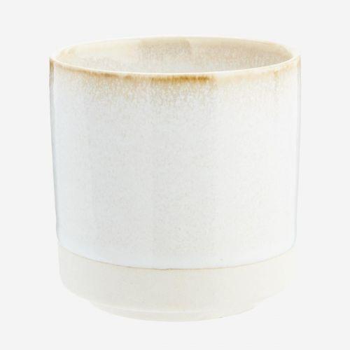 MADAM STOLTZ / Keramická šálka White Beige