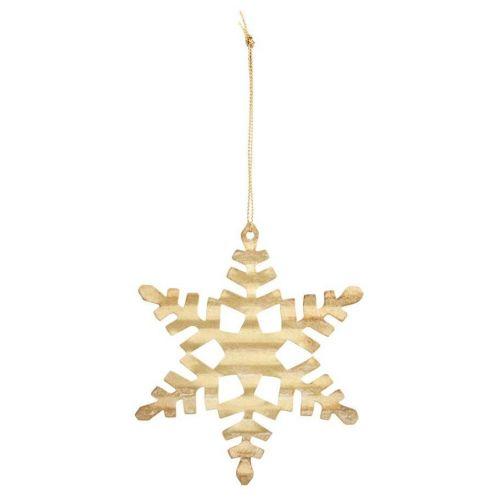 House Doctor / Vianočná ozdoba Gold Snowflake 11,7 cm