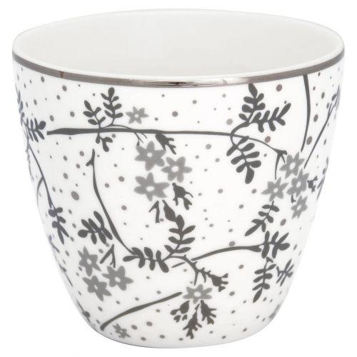GREEN GATE / Porcelánový Latte cup Amira White 350 ml