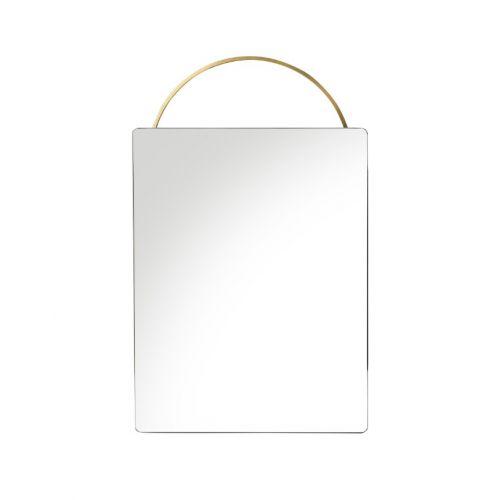 ferm LIVING / Závesné zrkadlo Adorn Brass