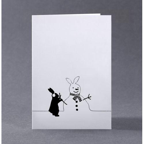 HAM / Vianočné prianie s králíkom Snowman Rabbit