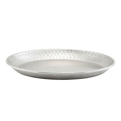 House Doctor / Hliníková tácka Silver Tray ⌀ 30 cm