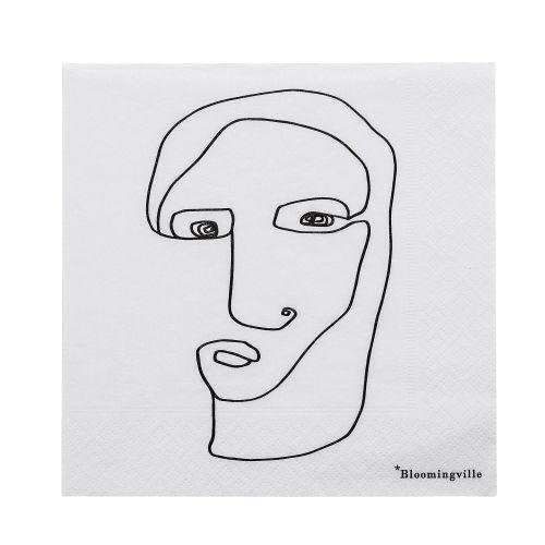 Bloomingville / Papierové obrúsky Monarch's Face 20 ks