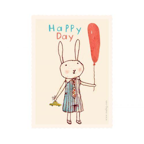 Maileg / Darčeková kartička Happy Day boy