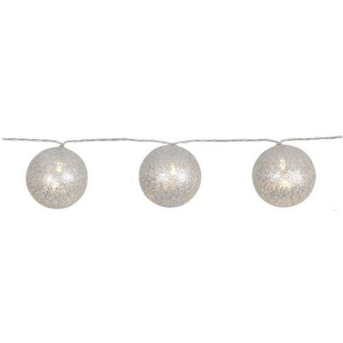 STAR TRADING / Svetelná lampiónová reťaz Jolly Silver Glitter