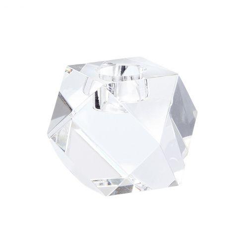 Hübsch / Nízky sklenený svietnik Crystal