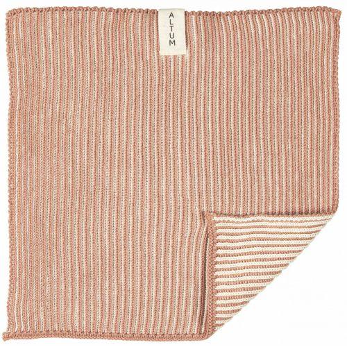 IB LAURSEN / Malý pletený uterák ALTUM Salomon Rose