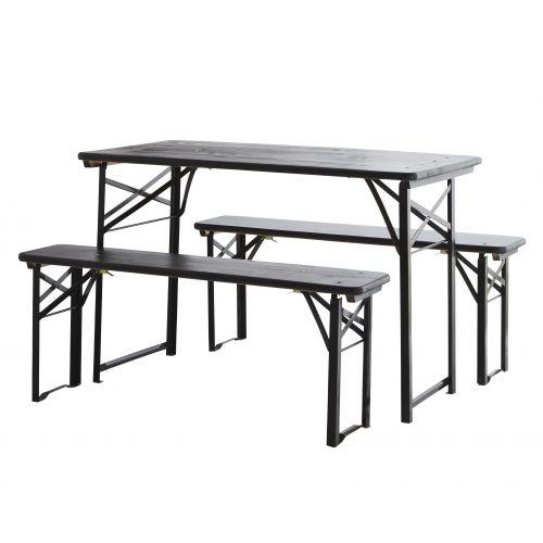 MADAM STOLTZ / Lavičky so stolom Black