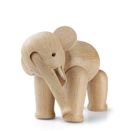 Kay Bojesen Denmark / Drevený slon Oak Elephant Mini 9,5 cm