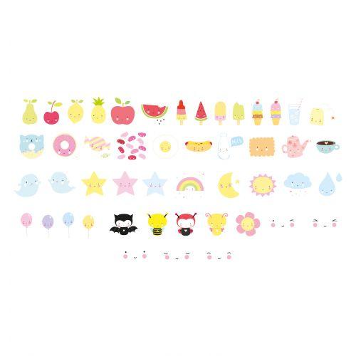 A Little Lovely Company / Set obrázkov pre Lightbox: Kawaii