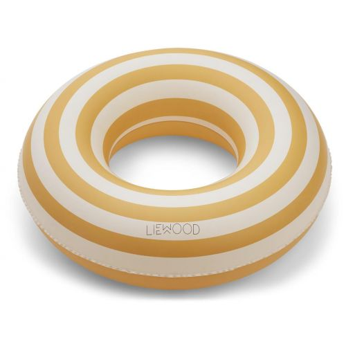 LIEWOOD / Nafukovací kruh Stripe Yellow Creme - 45cm