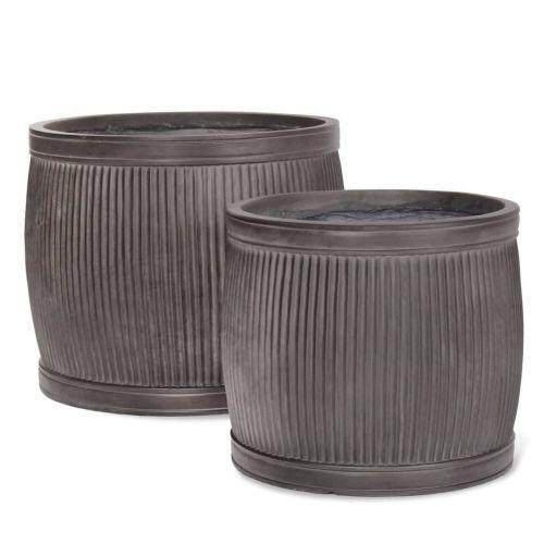 Garden Trading / Čierny záhradný kvetináč Fibre Clay