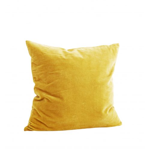 MADAM STOLTZ / Zamatová obliečka na vankúš Curry yellow 50x50