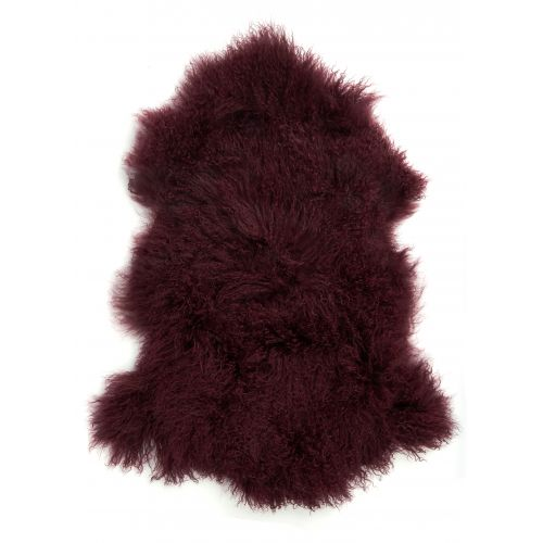 IB LAURSEN / Tibetská jahňacia kožušina Bordeaux Fur