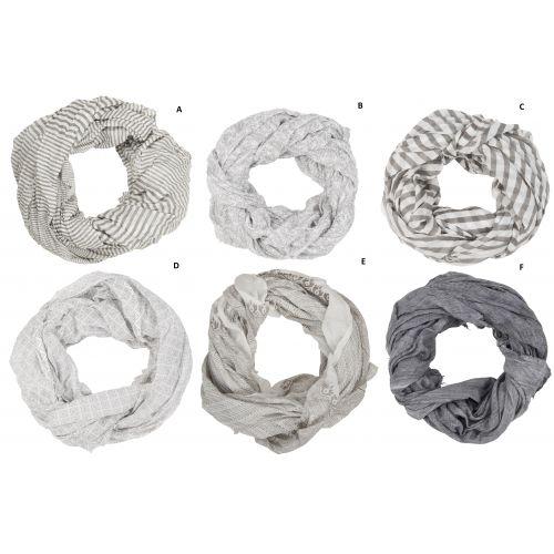 IB LAURSEN / Bavlnená šatka Grey Pattern