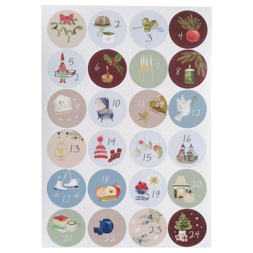 Bella Rose / Samolepky na adventný kalendár