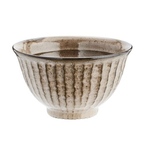 MADAM STOLTZ / Hnedá kameninová miska Stoneware