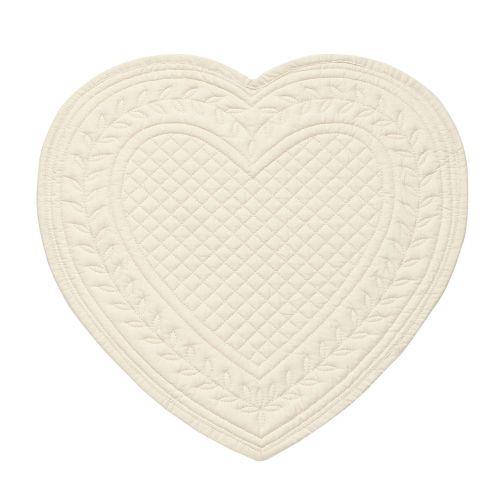 CÔTÉ TABLE / Bavlnené prestieranie Heart Cream 30cm
