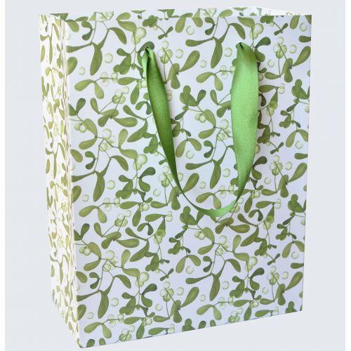 MANKAI Paper / Vianočná darčeková taška Imelo / šampaň