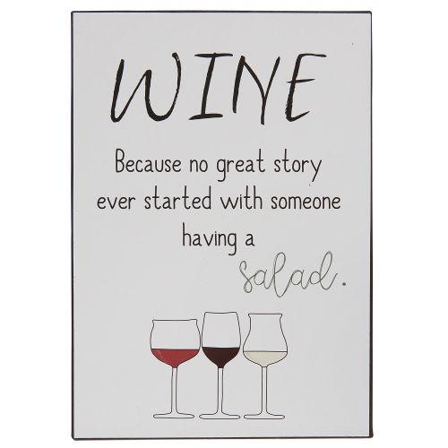 IB LAURSEN / Kovová ceduľa Wine