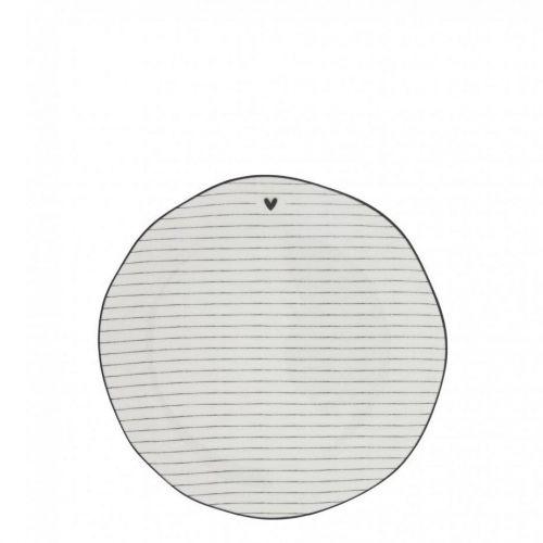 Bastion Collections / Porcelánový dezertný tanier Black Stripes 16 cm