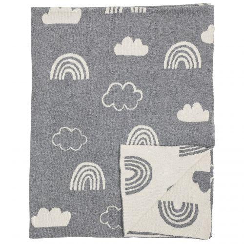 Bloomingville / Pletená detská deka Grey Sky 110x80 cm