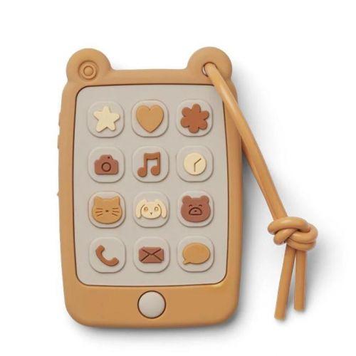 LIEWOOD / Silikónová hračka Play-Phone Yellow Mellow