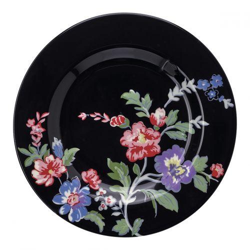 GREEN GATE / Porcelánový tanierik Isobel Black 15cm