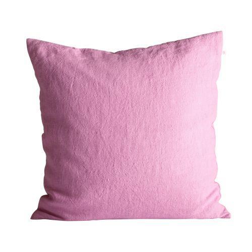 Tine K Home / Ľanová obliečka na vankúš Pink 50x50cm