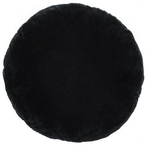 MADAM STOLTZ / Zamatový sedák Black 46cm