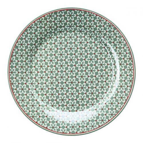 GREEN GATE / Porcelánový tanier Juno Green
