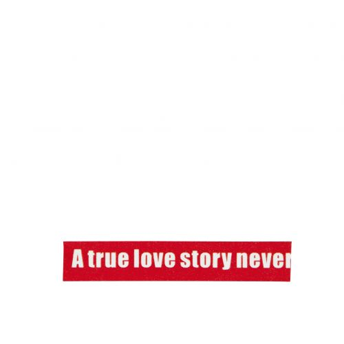 MADAM STOLTZ / Dizajnová samolepiaca páska Love red/white