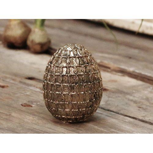 Chic Antique / Dekoratívne veľkonočné vajce Antique gold