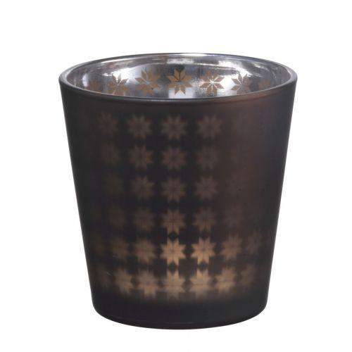 MADAM STOLTZ / Skleněný svícen Mat brown
