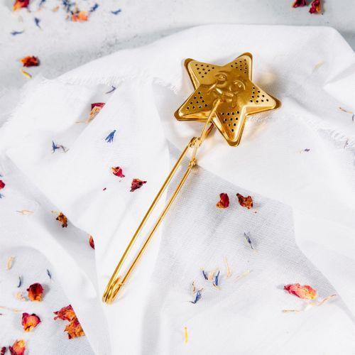 sass & belle / Kovové sitko na čaj Star Gold