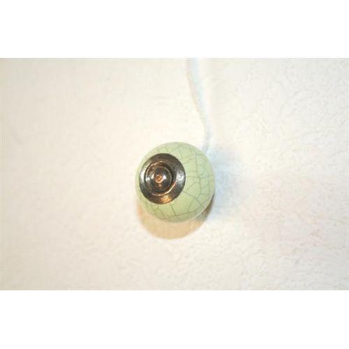 La finesse / Porcelánová úchytka mramor - zelená menšia